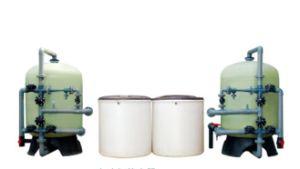 De dubbele Ononderbroken 24 Uren die van de Tank Automatische Waterontharder in werking stellen