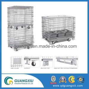 Pakhuis die de Stapelbare Containers van het Netwerk van de Draad van de Opslag met Gietmachines vouwen