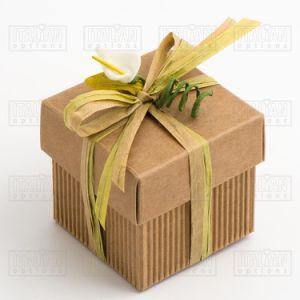 De natuurlijke Kraftpapier GolfDoos van de Gift van de Gunst van het Huwelijk DIY