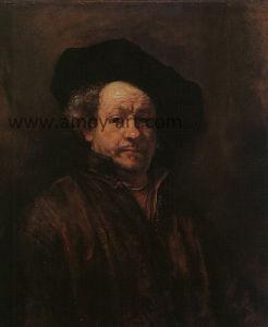 De Olieverfschilderijen van het Portret van Rembrandt voor het Decor van de Muur