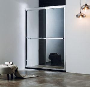 porte de douche en verre Tempered de 8mm diapositive la double cabine coulissante de douche de roue en métal de porte de douche de baignoire de porte de la douche 2017