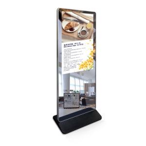 Plancher de 42 pouces Magic Mirror permanent Interactive Ad player lecteur vidéo multimédia de réseau de signalisation numérique HD LCD Affichage de publicité