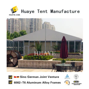 Luxury 10m caso parte tenda com decorações de retângulo