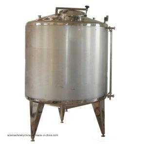 Les mesures sanitaires de boissons en acier inoxydable liquide du réservoir de réservoir de stockage vertical (ACE-CG-6K)