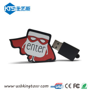 Your Designの昇進のGift Customized Rubber USB Flash Drive