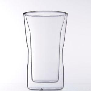 Tazza di vetro doppia termoresistente/tazza caffè/del tè con il coperchio del silicone