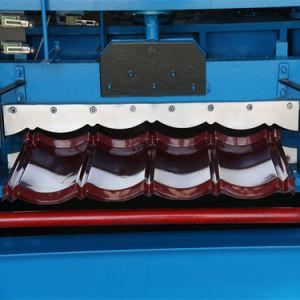 Font largement usage de carreaux émaillés de la machine de rouler la machine du panneau de carton ondulé