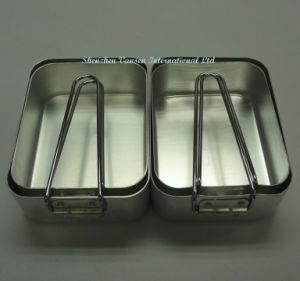 2 conjuntos de alimentos para o exterior da caixa de alumínio