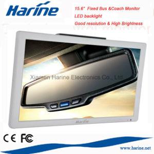 A retroiluminação LED de 15,6 polegadas LCD de carro do Barramento CAN do Monitor de vídeo