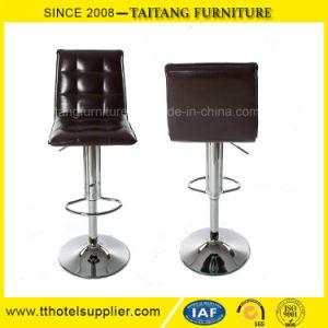 Hotsale正方形PUの革旋回装置棒椅子