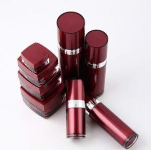 赤く装飾的な包装Set5アクリルのクリーム色の瓶のローションのびん(PPC-CPS-039)