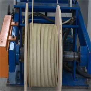 2016 populares de Alumínio Cobertos de fibra de vidro fio plana 2*10mm