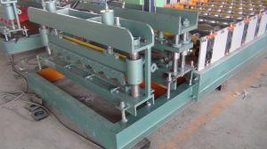 L'étape de l'aluminium panneau du toit de tuiles machine à profiler