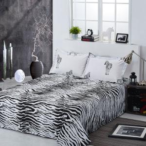 Preto e Branco IMPRESSÃO REACTIVA roupa de cama de algodão dos produtos têxteis