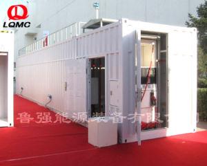 移動式ディーゼル燃料の容器端末としてスキッド取付けられた燃料を補給する装置