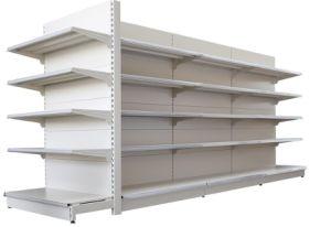 Tienda de góndola de supermercado Metal Pantalla soporte de almacenamiento de equipos de estantería