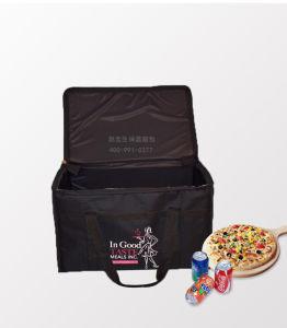 Grand noir l'isolation thermique des aliments chauds Livraison de pizza sacs fourre-tout