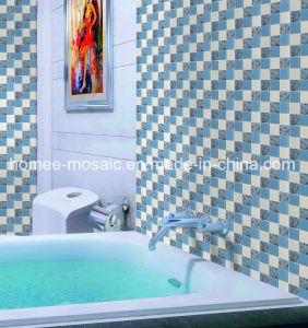 Salle de bains d'impression jet d'encre carrés de gros de la tuile mosaïque de verre