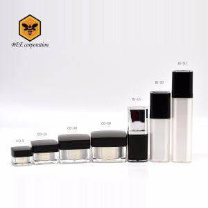 高品質の正方形の装飾的なアクリルのプラスチッククリーム色の瓶CD-5