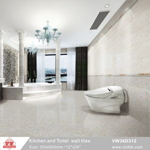 Tegel van de Muur van de Badkamers van de Keuken van de Decoratie van China Foshan de Materiële Ceramische (VW36D312, 300X600mm/12 '' x24 '')