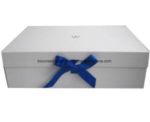 Klein-Kleidungs-/Kleid-verpackenkasten/faltender weißer Kleid-Einzelverkaufs-Kasten