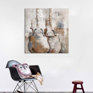 ホーム装飾のための伸ばされた現代ギターの油絵