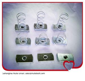 Acier inoxydable 316 (A4) , 304 (A2) , l'écrou de canal d'acier, ressort de l'écrou, avec le ressort long, M45