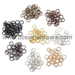 カスタム金属Gの形のキーのホールダーの分割されたリング