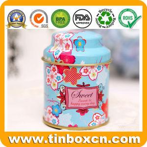 Estaño Metal redondo té Caja de té puede el envasado de alimentos
