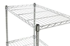 DIY 4 Tiers Adjsutable cable de metal cromado Ligeros estante para libros para Office 900*450*1800