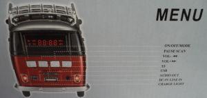 2017 Promocional mais vender Portable Van leitor Bluetooth do Barramento do alto-falante