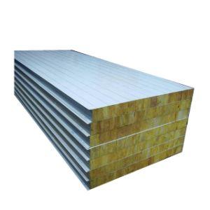 50mm/75mm/100mm/150mm poliuretano PU/EPS/paneles sándwich de lana de roca con 0,4 mm/0,5 mm de chapa de acero de color