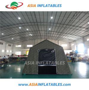 避難者/軍隊の医学のテント/膨脹可能な緊急のテント赤いPVCテントのための可動装置の救急処置の膨脹可能な緊急のテント