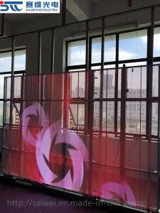 P10 Nouveau à l'intérieur de l'écran LED en verre transparent pour la publicité