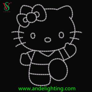 Miezekatze-Motiv-Licht LED-2D hallo für Dekoration Park der Kinder