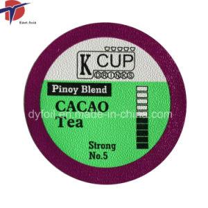 K Les couvercles de capsules de café de la coupe du film