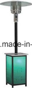 Aquecedor do pátio Squre suporte de aço inoxidável com pole e corpo de acrílico com queimador Normal