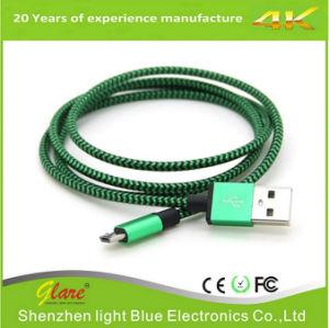 Nylongewebe Mikro-USB-Kabel umsponnenes USB-Kabel