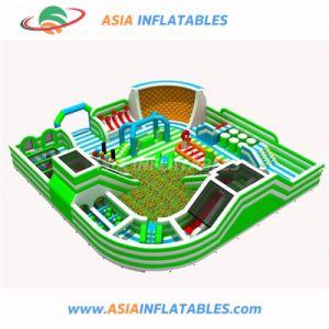 Adultos de alta calidad para interiores inflables castillo inflable con tobogán del parque temático