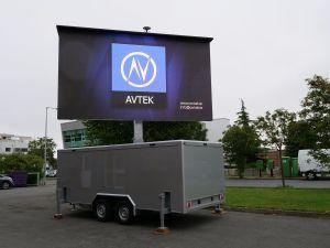 Le contrôle sans fil P6.25mm Chariot Mobile écran LED (3,5x2m)