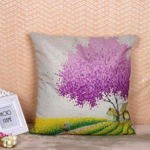 装飾のギフトのための多彩な木のデジタルによって印刷される綿のリネンクッションカバー