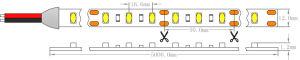 UL CE Osram 5630 Max24W/M 12V 3000K a luz de LED