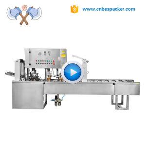 A bandeja de água copos descartáveis de máquina de colagem para copos de vedação