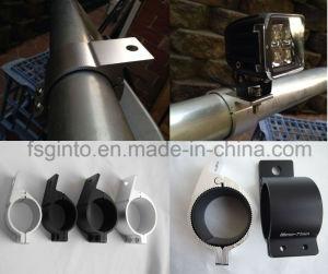 Abrazadera de la barra de luces moto auto Bull barra antivuelco Horizontal Kit de soporte de montaje de 3 pulgadas para jaula antivuelco del techo de la abrazadera del tubo de soporte para coches motocicletas (76mm)