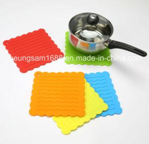 Mat van het Diner van de Mat van de Lijst van de Keuken van de Pannelappen van het silicone de Hittebestendige