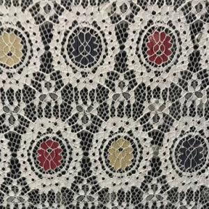 Cor do tecido Muti Rendas de algodão