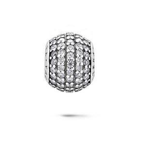De ronde Juwelen van het Kristal parelen Zilveren Juwelen 925