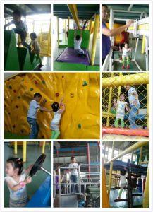 O CE caçoa o campo de jogos interno do castelo do divertimento (ST1401-9)