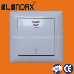 Европейский утопленный монтаж двух светодиодов настенный переключатель (F6105)