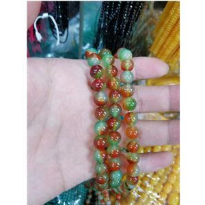 Natural Peacock Agate en pierres précieuses Perles desserrés